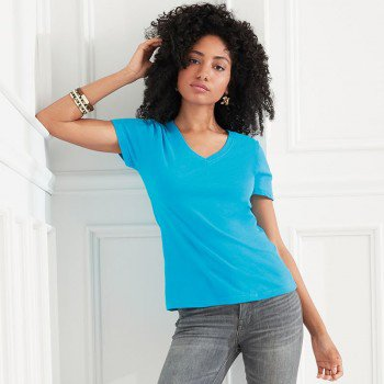 Womens Featherweight V-Neck Tee