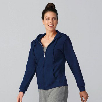 Heavy Blend Ladies Full Zip Hooded Sweatshirt