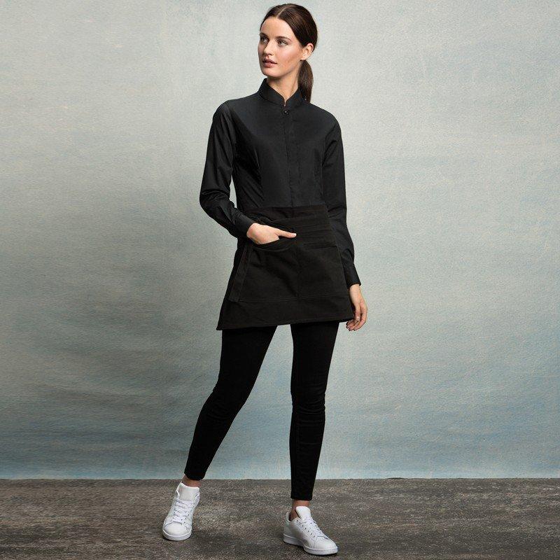 d08d10b9ddb3 Kustom Kit Bargear Womens Mandarin Collar Bar Shirt Long Sleeve (KK740)