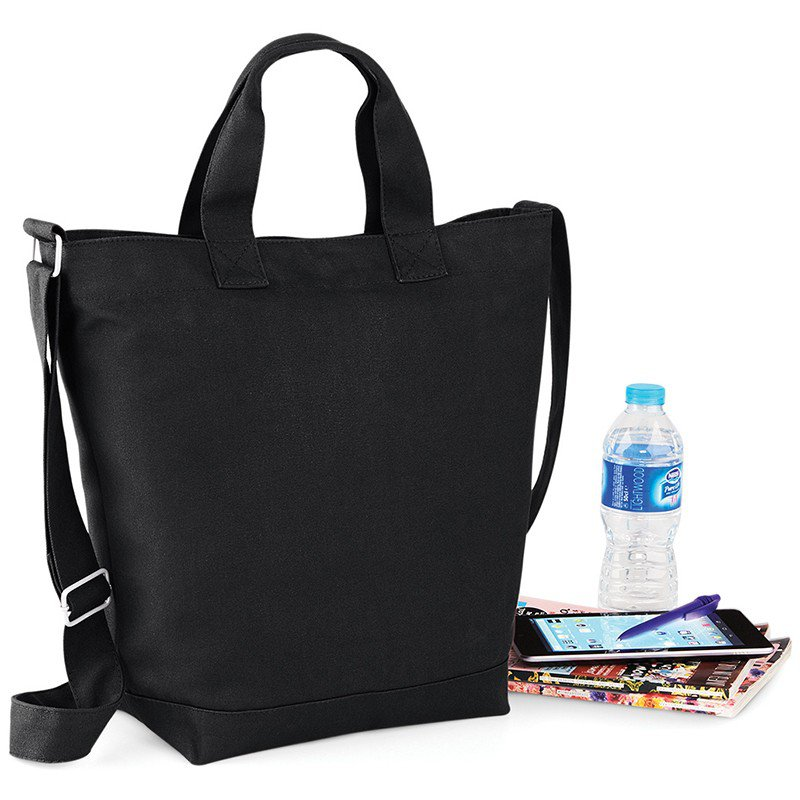 Bag Base Unisex Styling Cotton Canvas Day Bag with Should Strap