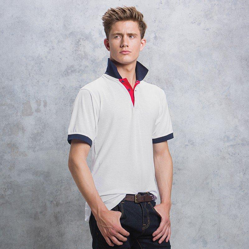 Kustom Kit Contrast Collar and Placket Polo (KK404) 7f07d122875