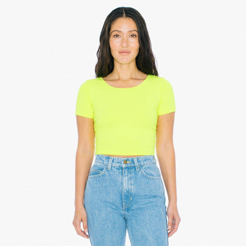 6db320ee9f1 American Apparel Cotton Spandex Jersey Crop T-Shirt (AA041) RSA8380W